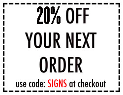 SIGN COUPON